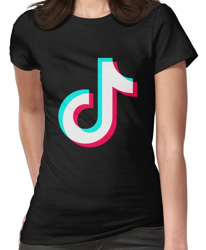 Tiktok Fitted T Shirt By Luckyluciano77 In 2021 T Shirt Social Media Clothes Shirts