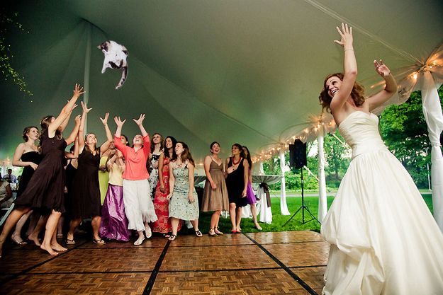 """""""Brides Throwing Cats"""" Is The Wedding Tumblr You Didn't Know You Needed"""