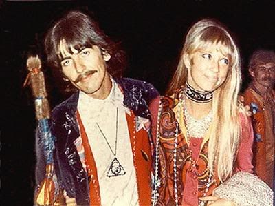 pattie boyd: wife and muse to harrison and clapton. 60's icon. wearer of great bangs. if i could walk a mile in ANYONE'S shoes....
