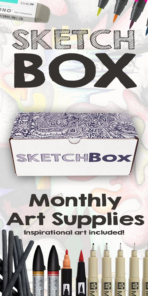 Monthly art supplies delivered to your door.  Sign up now at www.GetSketchBox.com