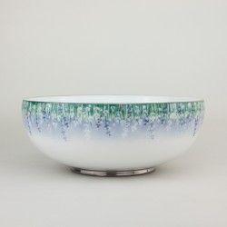 Lalala Platine  beautiful #Lavender , 2litre #handpainted, #FruitBowl finest #Jingdezhen #porcelain #diningware #Bowl