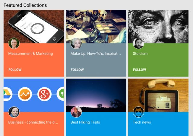 Google+ introduces themed Collections like Pinterest