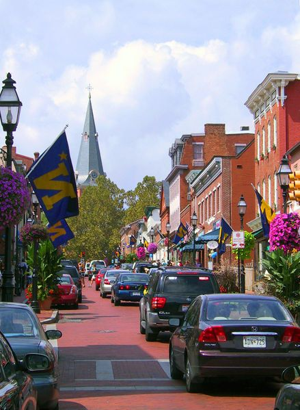 Annapolis, Maryland: I love to walk this quaint street and wander into the bookstores,  art galleries with the nautical art, and great little restaurants. George Washington ate or slept at some of the places here!