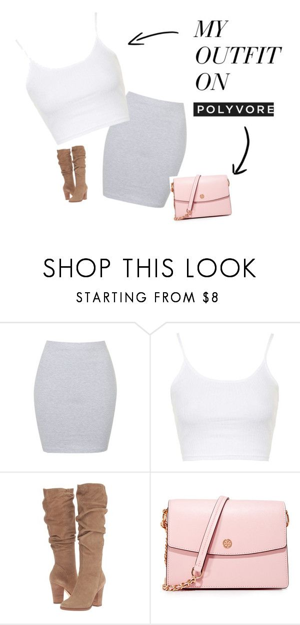 """beef"" by mayflowers9 on Polyvore featuring Annie Greenabelle, Topshop, Steve Madden and Tory Burch"
