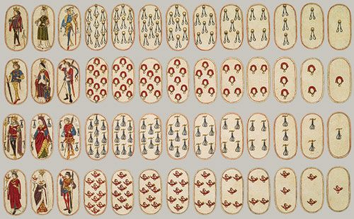 La Bella Donna 52 playing cards ca1475 Burgundian metmuseum heilbrunn timeline -Game of Ruff, Droughts, Maw, Scartino, Gluckhaus, Game of Goose, Smerelli, Bocce,  Bassetta,