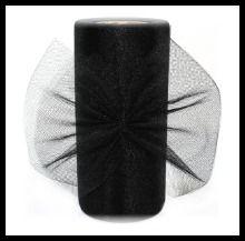 Black Glimmer Tulle