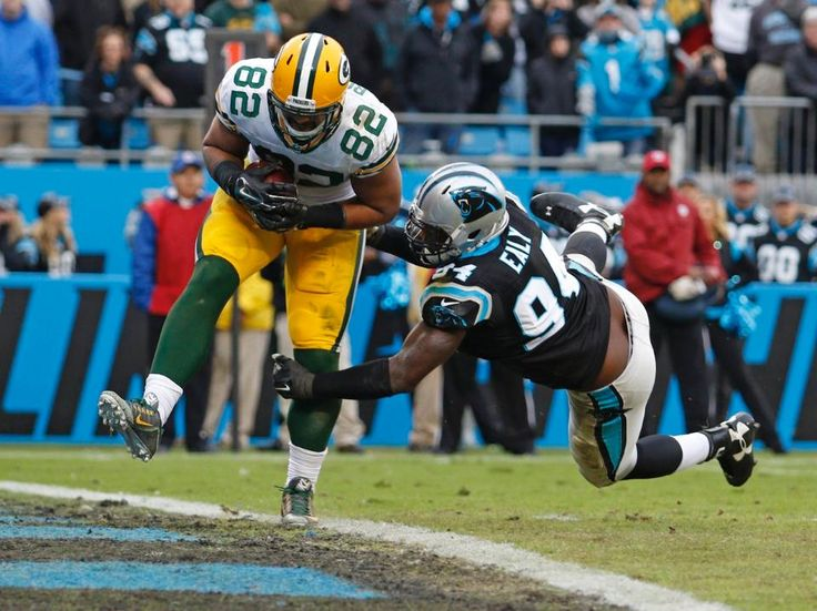 Packers Panthers Football Richard Rodgers, Kony Ealy