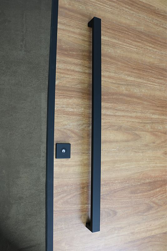 matte black entry pull set long complete door hardware hinges contemporary doors pivot lowes double sets emtek