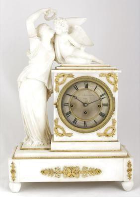 An Austrian Empire clock W. Schönberger in Wien