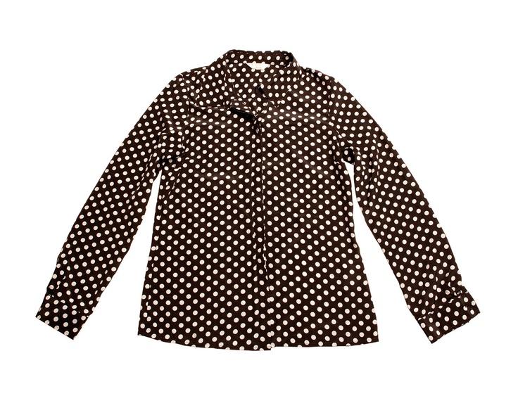 Basic polka dot blouse.