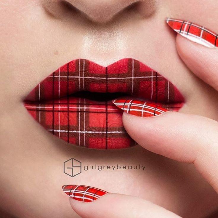 Теперь создавать рисунки и аппликации можно не только на ногтях, но и на губах.