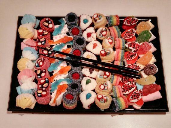 Bandejas de Sushi de chuches por LACHUCHETERIA en Etsy