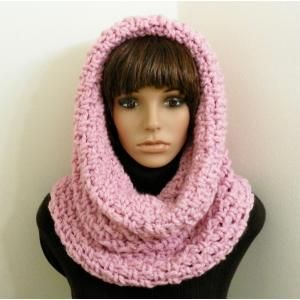 Free Crochet Hooded Scarf Pattern Chunky Tunnel Cowlhood