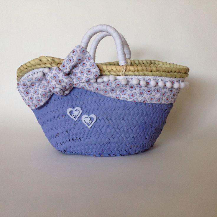 Capazo TRISTANA cesto pequeño decorado por Cuqui Miluki