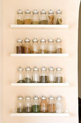 Build spice storage with IKEA shelves