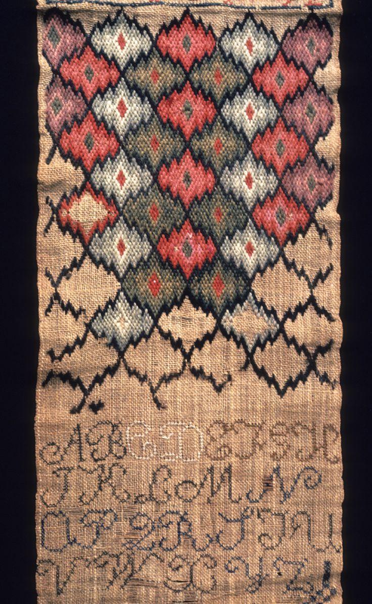 Textiles (Needlework) - Sampler Adjust/convert to wallet