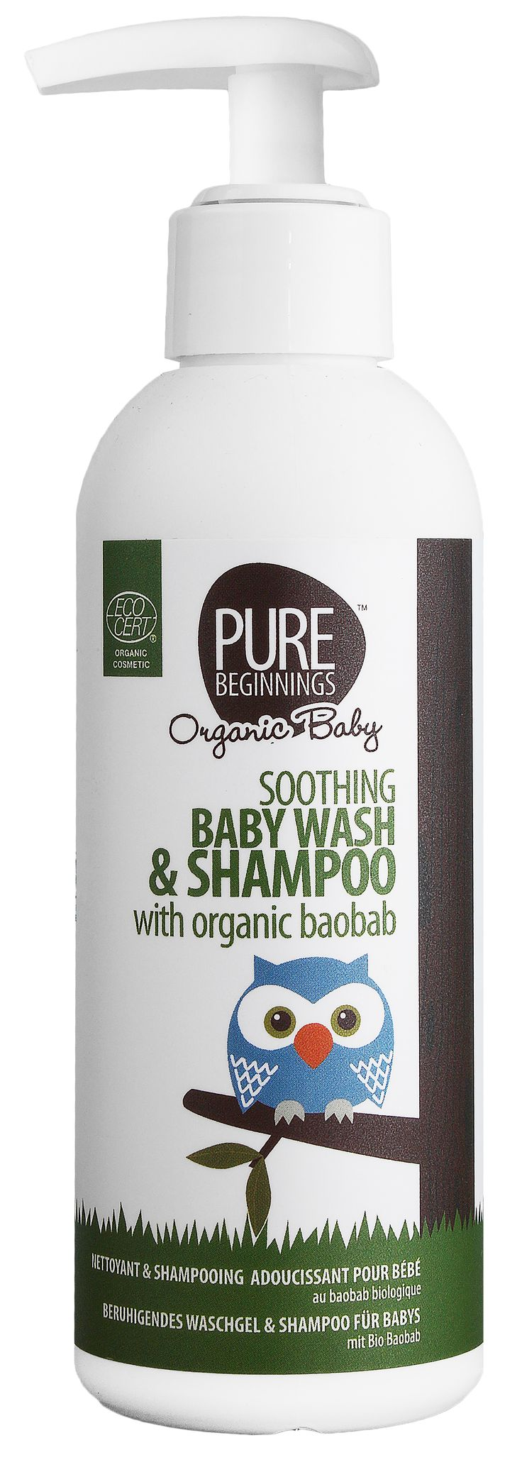 SOOTHING BABY WASH & SHAMPOO   *Mild all in one  *Ultra mild surfacants *Organic baobab fruit extract *Organic lavender oil *Organic rose geranium oil