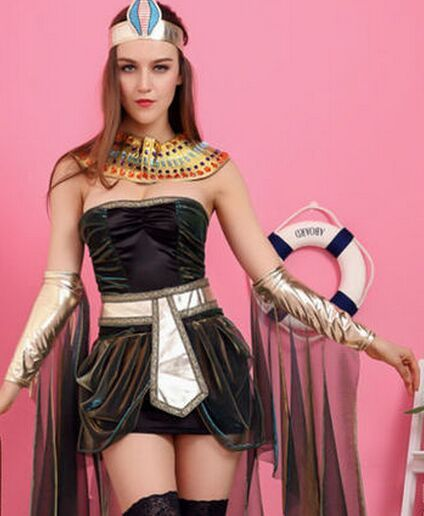 Dress like Cleopatra for Halloween! http://www.markethalloween.com/products/queen-cleopatra-costume-for-women-sexy-cleopatra-costume-cleopatra-dress-egyptian-dress-egyptian-clothing-egypt-dress/
