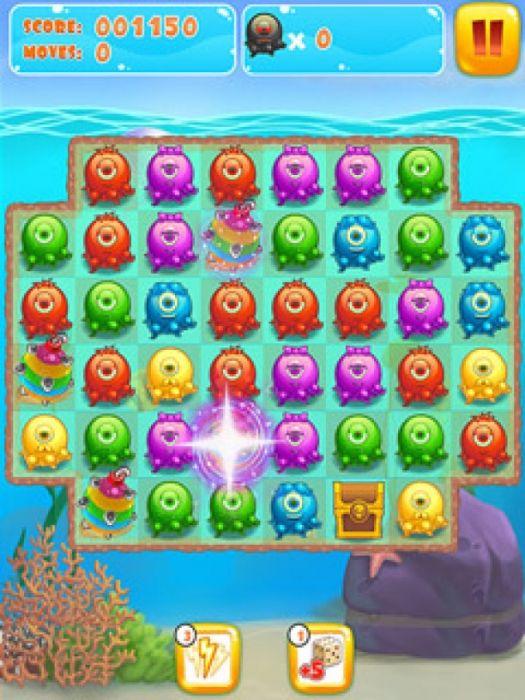 Подключение по меньшей мере три осьминогов одного и того же цвета в Octopus Hugs, один из лучших игр соответствия цветов. В 50 захватывающих уровней, вы получаете только определенное количество ходов, так что вы должны достичь цели уровня перед запуском из ходов или вы потеряете. Чем дольше сети вам удастся создать, тем больше очков вы заработаете.  Источник: http://games-topic.com/138-octopus-hugs.html