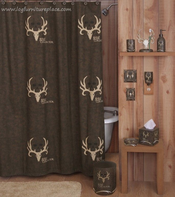 Bone collector bathroom decor camouflage hunting decor for Camo bathroom ideas