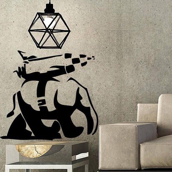Wooden Banksy Wall Art Mr Fix It Diy