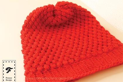 Crochet Beanie www.craftingcrochet.blogspot.com