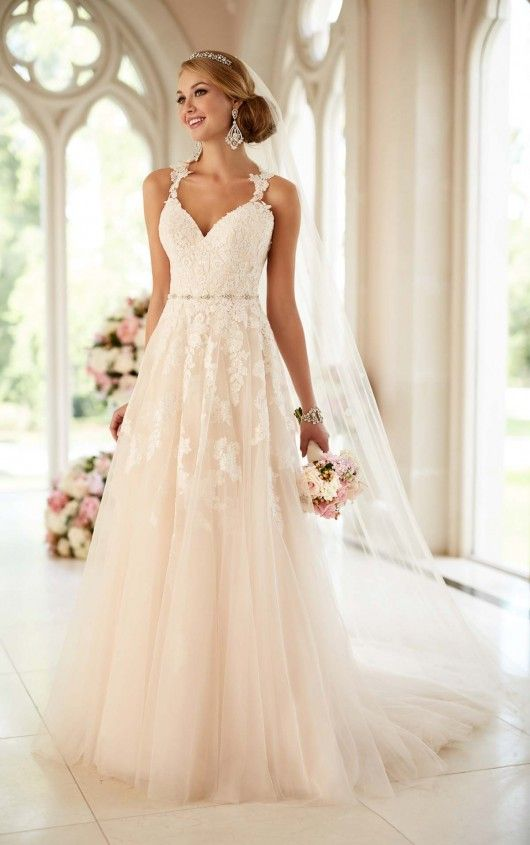 6144 Lace Illusion Back Wedding Dress by Stella York