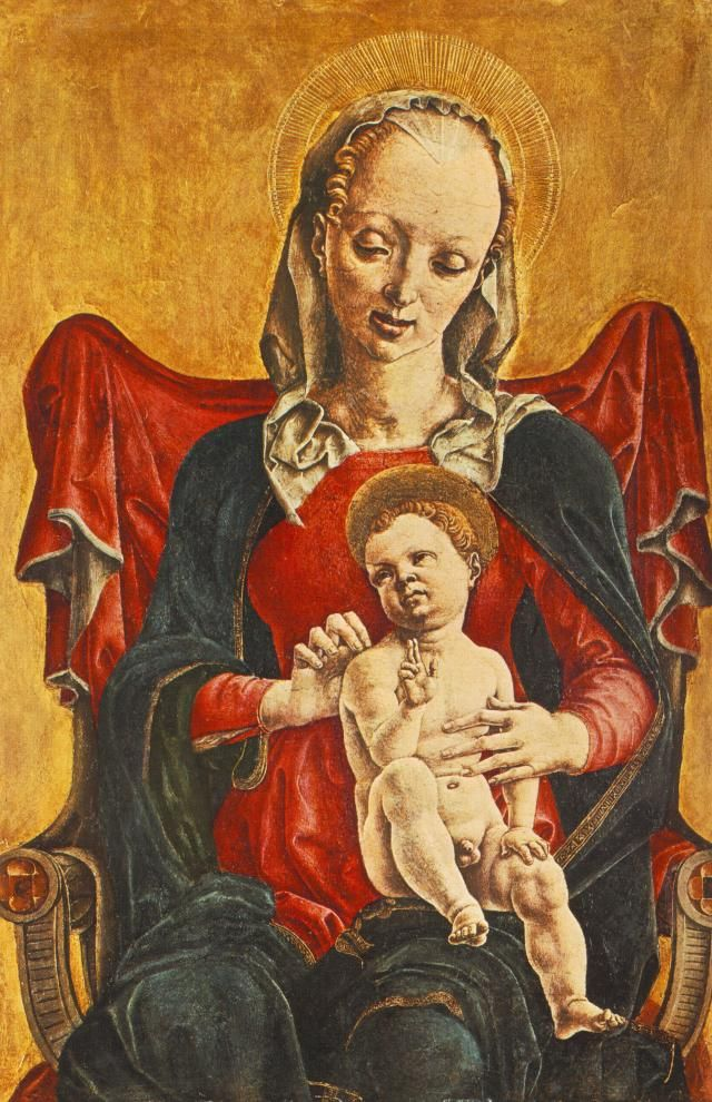 Cosmè tura, madonna di Bergamo - San Domenico (Cosmè Tura) -