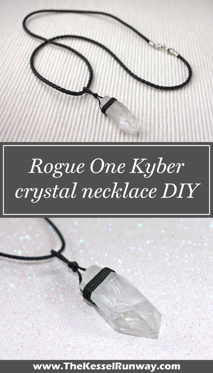 Star Wars Rogue One Jyn Erso Kyber crystal necklace DIY project ⭐️ Star Wars fashion ⭐️ Geek Fashion ⭐️ Star Wars Style ⭐️ Geek Chic ⭐️