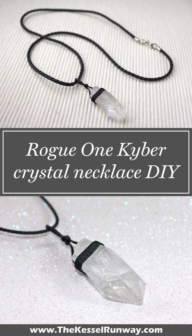 Star Wars Rogue One Jyn Erso Kyber crystal necklace DIY project ⭐️ Star Wars fashion ⭐️ Geek Fashion ⭐️ Star Wars Style ⭐️ Geek Chic ⭐️