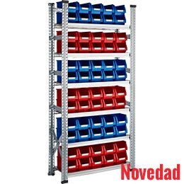 Estanterías metálicas Galvamil con gavetas nº 52. http://www.esmelux.com/estanter%C3%ADas-met%C3%A1licas-galvamil-con-gavetas-52