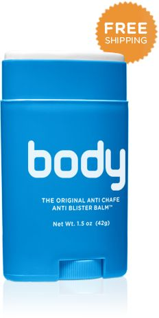 FREE SHIPPING: Body Glide® Anti Chafing Stick is the #1 Product used by Runners, Athletes & Anyone that desires Relief from Painful Skin Chafing.