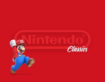 """다음 @Behance 프로젝트 확인: """"Nintendo Classics"""" https://www.behance.net/gallery/44821191/Nintendo-Classics"""