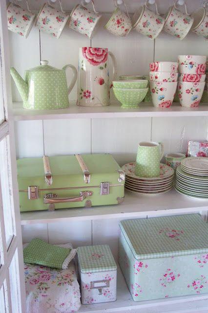 Lulufant   GreenGate pink & green