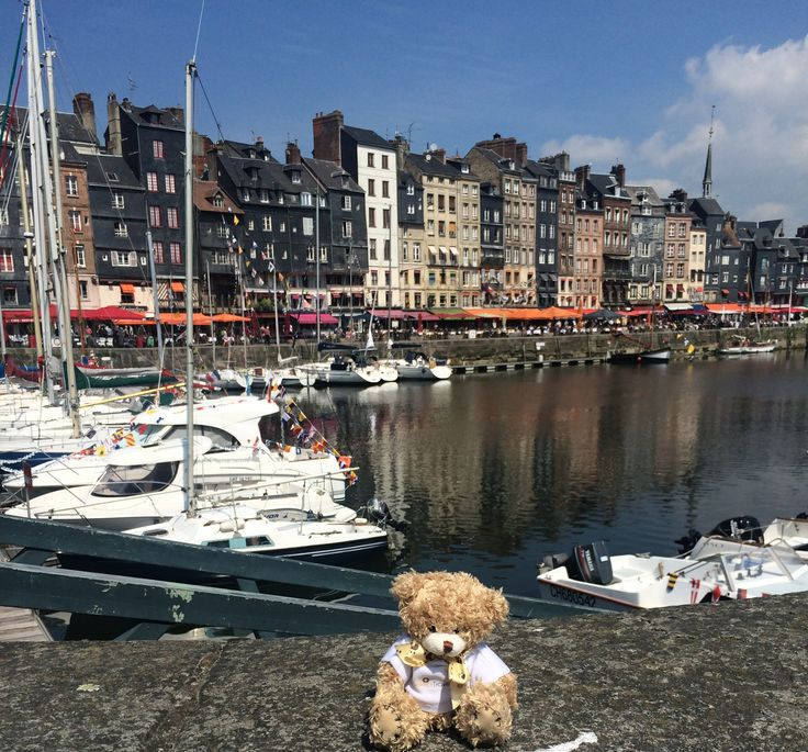 Celebrity Cruises - Aboard Celebrity Eclipse - Cruise Select's Bedford Bear ashore in Honfleur
