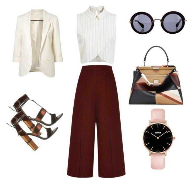 """""""Chic day at the office"""" by adriana-elena-pusco on Polyvore featuring Proenza Schouler, Miss Selfridge, Tom Ford, Miu Miu and Fendi"""