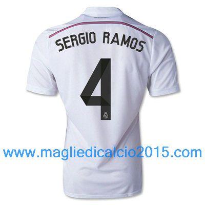 Real Madrid magliette da calcio 2014/2015 Sergio Ramos 4- Local