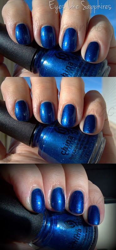 China Glaze Eyes Like Sapphires - Throwback Thursday