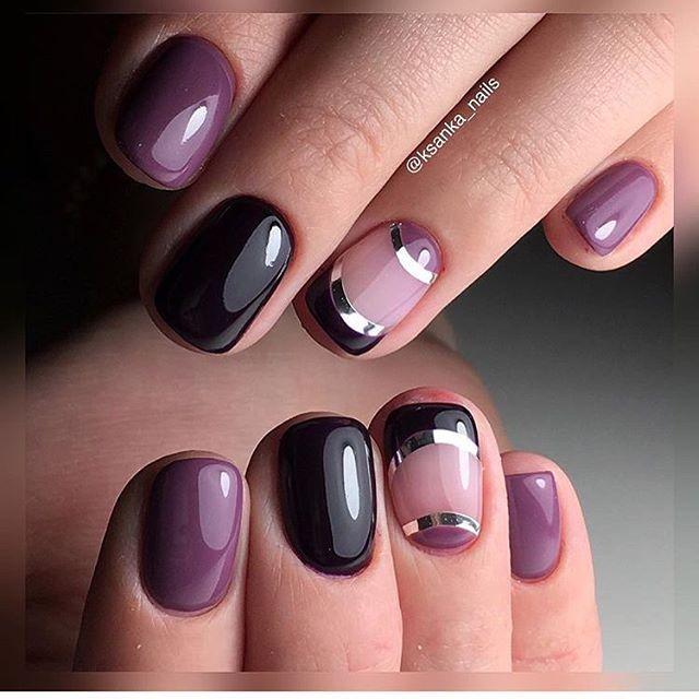 Evening nails, Evening nails by shellac, Ideas for short nails, Short nails 2017