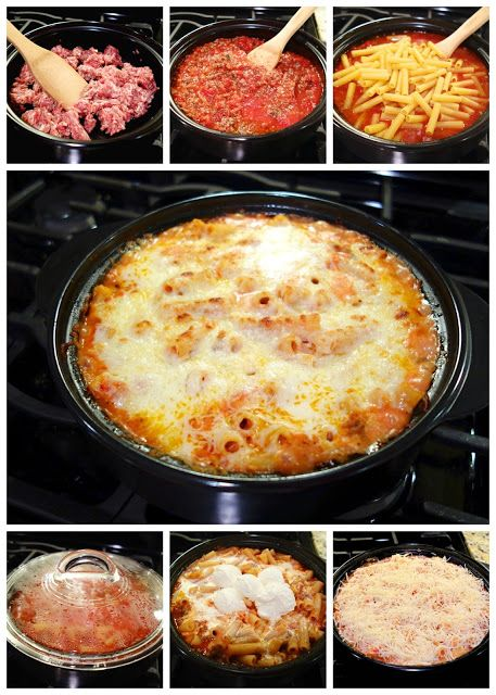 One-Pot Baked Ziti - I didn't put this in the oven.  Just sprinkled with cheese and put the lid back on until it was melted.
