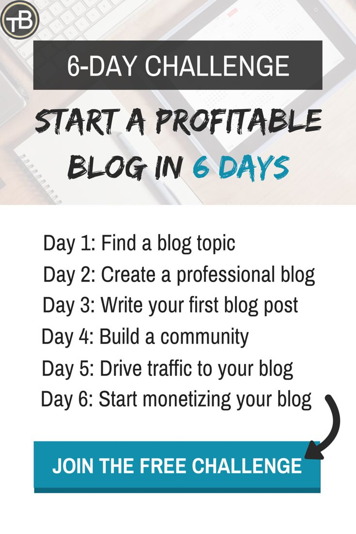 Challenge start a profitable blog in 6 days pinterest for I want to build a house where do i start