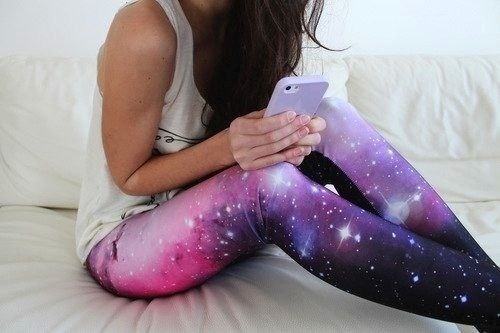 galaxy leggings. ♡