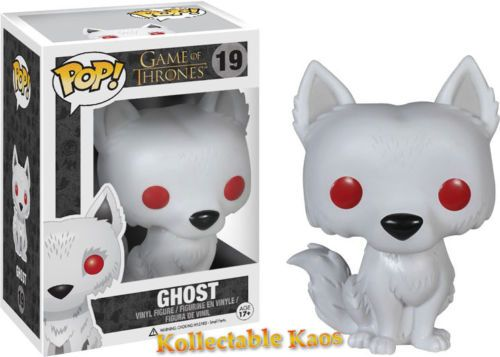 Game of Thrones Direwolf Ghost Pop Vinyl Figure | eBay (11.05e)