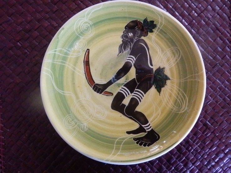 Martin Boyd Hand Painted Aboriginal Plate Signed
