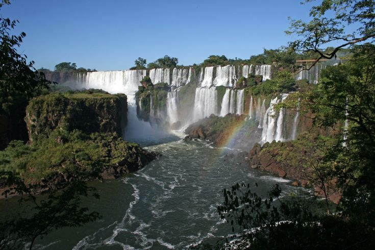 Iguazu Falls: pictures will never do this location justice.  Located on the border of Argentina and Brazil.... Absolutely beautiful