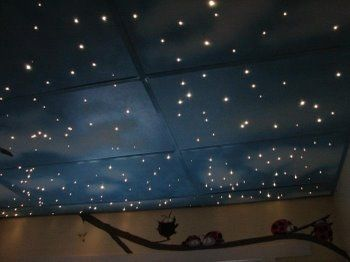 starry ceiling:3 http://www.designdazzle.com/2009/04/creative-ceiling-treatments/