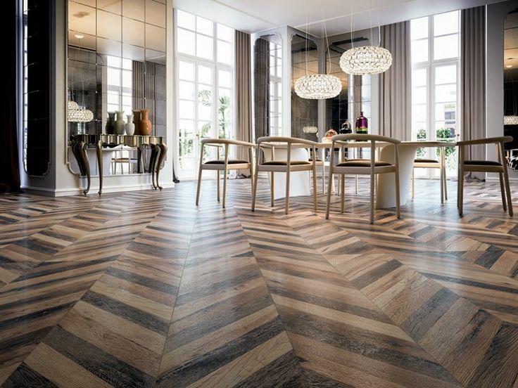 Descarregue o catálogo e solicite preços de Chevron by Ceramiche Refin, piso de grés porcelânico com efeito de madeira, coleção Chevron