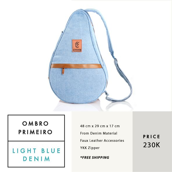 OMBRO PRIMEIRO LIGHT BLUE DENIM  IDR 230.000  FREE SHIPPING ALL OVER INDONESIA    Dimension: 48 cm x 29 cm x 17 cm 23 Litre   Material: High Quality Denim Faux Leather Accessories Leather Accessories YKK Zipper  #GoodChoiceforGoodLooking