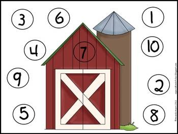 Farm Math Work Station... Dear Math
