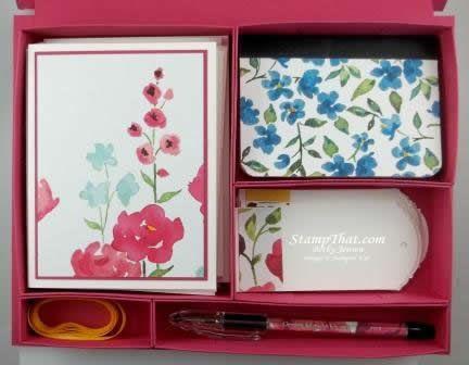 Handmade Stationary Set in a Handmade Box